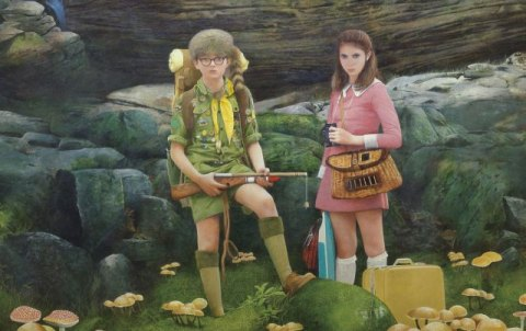 Sam and Suzy in Moonrise Kingdom