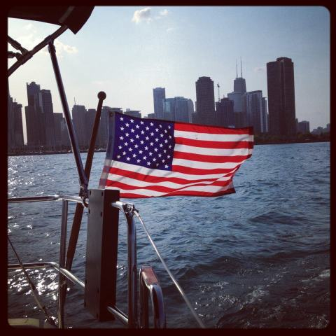 Flag of the United States_Old Glory_Chicago_Boat_Frontier Psychiatrist